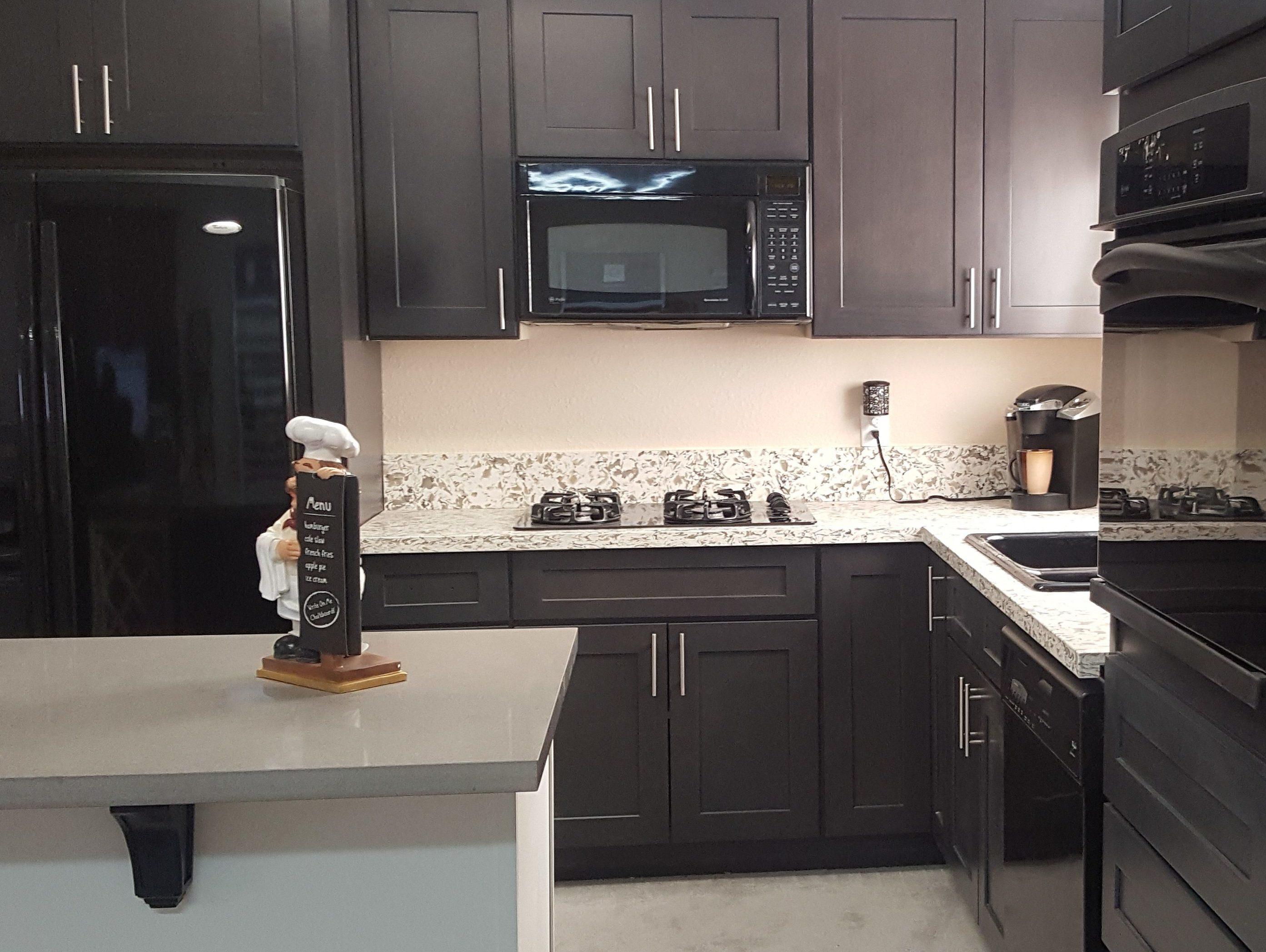 Ash Grey Shaker Lesso Kitchen And Bath